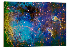 Wood print  The Tadpole Nebula - Ken Crawford