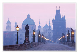 Premium poster  Charles Bridge at dawn - age fotostock