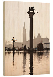 Wood print  San Marco with the San Giorgio Church - Cubo Images
