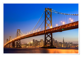 age fotostock - Bay Bridge and San Francisco skyline at dusk