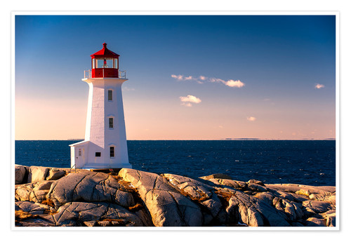 Premium poster Peggy´s Point Lighthouse