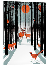 Acrylic print  Animals in the winter forest - Ikon Images