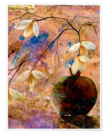 Premium poster Abstract vase with flowers