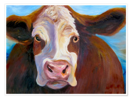 Premium poster Chubby cow