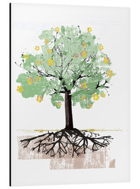 Aluminium print  Blossoming tree with roots - Ikon Images