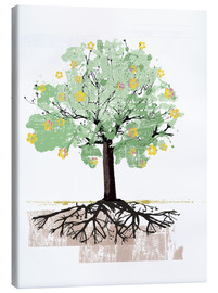 Ikon Images - Blossoming tree with roots