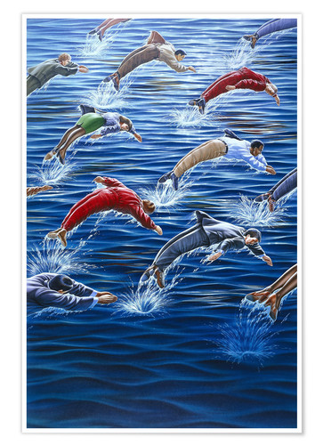 Poster Human dolphins