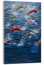 Wood print  Human dolphins - ACE