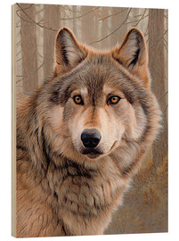 Wood  North American Wolf - Ikon Images