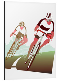 Alu-Dibond  Cyclist in a turn - Ikon Images