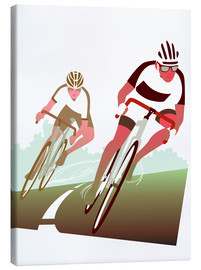 Canvas print  Cyclist in a turn - Ikon Images