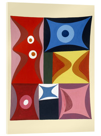 Acrylic print  Elementary Forms in a Vertical-Horizontal Composition - Sophie Taeuber-Arp