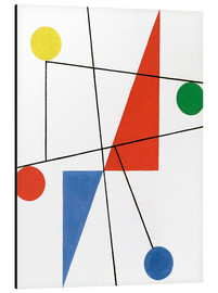 Aluminium print  Composition with dots and lines - Sophie Taeuber-Arp