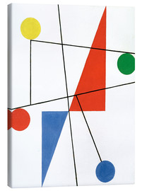 Canvas print  Composition with dots and lines - Sophie Taeuber-Arp