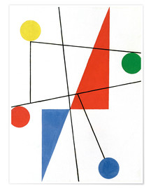 Premium poster  Composition with dots and lines - Sophie Taeuber-Arp