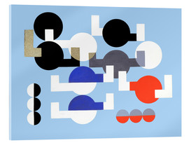 Acrylic print  Composition of Circles and Overlapping Angles - Sophie Taeuber-Arp