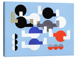 Canvas print  Composition of Circles and Overlapping Angles - Sophie Taeuber-Arp
