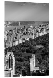 Acrylic print  Central Park in black and white - Walter Bibikow