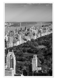 Premium poster Central Park in black and white