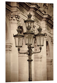 Foam board print  Lamp posts and columns at the Louvre Palace, Louvre Museum, Paris, France. - age fotostock