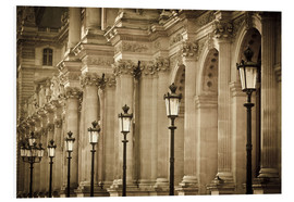 Foam board print  Lamp posts and columns at Louvre - age fotostock