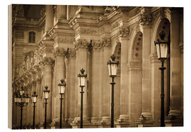 Wood print  Lamp posts and columns at Louvre - age fotostock