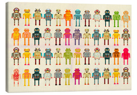 Ikon Images - Toy robots in a row