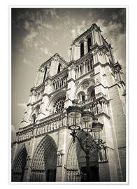 Premium poster Notre Dame Cathedral, Paris, France.