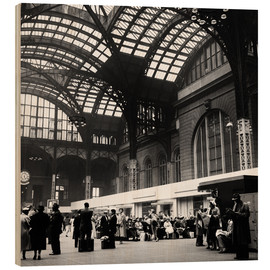 Wood print  Penn Station, NYC, 1954 - Science Source