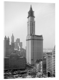 Acrylic print  Woolworth Building around 1913 - Glasshouse