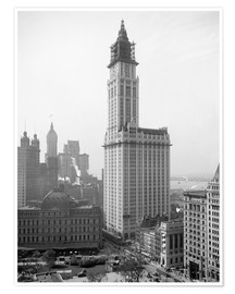 Premium poster Woolworth Building around 1913