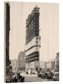Wood  Times Building under Construction, 42nd Street, New York City, USA, circa 1904 - Glasshouse