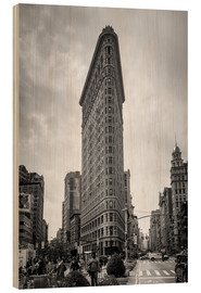 Wood print  Flatiron building, New York City - Axiom RF