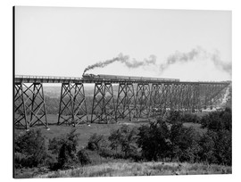 Aluminium print  North Western Railway Viaduct at Des Moines River - Glasshouse