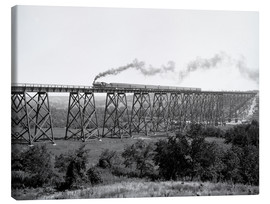Canvas print  North Western Railway Viaduct at Des Moines River - Glasshouse