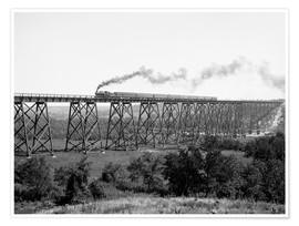 Premium poster  North Western Railway Viaduct at Des Moines River - Glasshouse