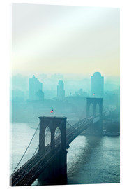 Acrylic glass  Brooklyn Bridge at dawn - Johner