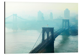 Aluminium print  Brooklyn Bridge at dawn - Johner