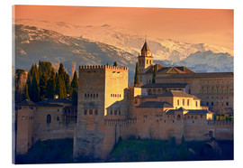 age fotostock - Sierra Nevada and the Alhambra at Sunset