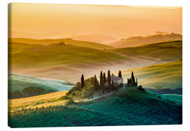 Canvas print  A lonely farm with cypresses and olive trees - Click Alps