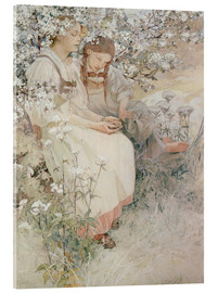 Acrylic glass  Blessed are the pure hearts - Alfons Mucha