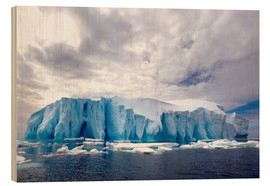 Wood print  Ice floe in the Southern Ocean - Cultura/Seb Oliver