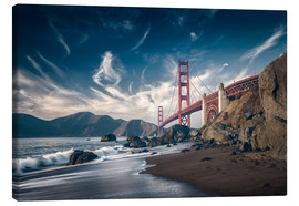 Canvas  Beach and Golden Gate Bridge - Westend61