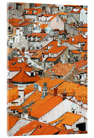Acrylic glass  The roofs of Dubrovnik - Axiom RF