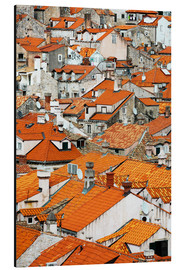 Aluminium print  The roofs of Dubrovnik - Axiom RF