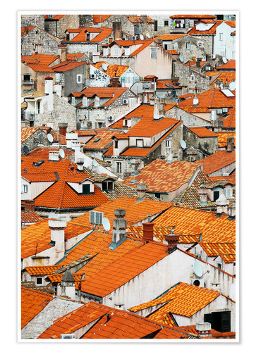 Premium poster The roofs of Dubrovnik