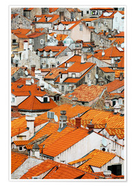 Poster The roofs of Dubrovnik