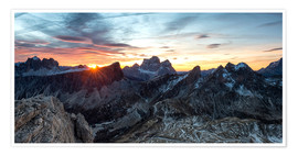 Premium poster  Sunrise over the Dolomites in Veneto - Click Alps