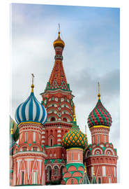 Acrylic glass  St. Basil's Cathedral at Red Square in Moscow - Click Alps