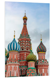 Foam board print  St. Basil's Cathedral at Red Square in Moscow - Click Alps